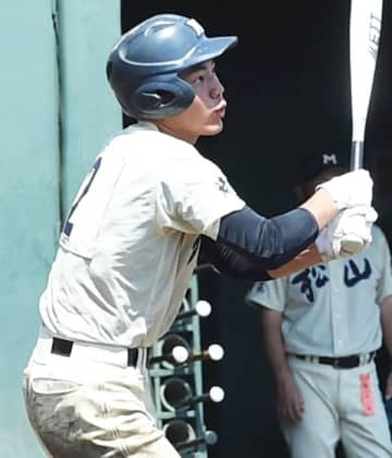 不動岡との4回戦で4打数3安打3打点と活躍した松山の鳥塚