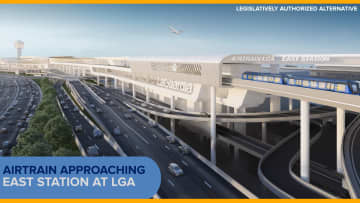 ニュース画像:エアトレイン工事着工にGOサイン LGA空港とシティフィールド結ぶ