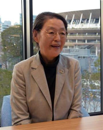 東京五輪・パラリンピック組織委員会副会長の荒木田裕子さん=2020年2月
