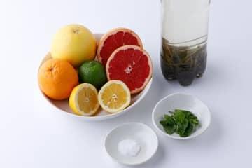 柑橘系フルーツやミントを加えて爽やかに!塩ひとつまみで熱中症予防にも