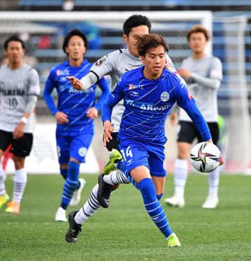 チーム立て直しの過程で、攻撃の中心を担ったMF山田康太(14)=4月、天童市・NDソフトスタジアム山形