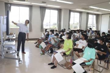 地元の「八王子祭り」学ぶ 朝日陸上少年団の団員ら