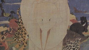 天才絵師・伊藤若冲の作品を西陣織で再現 岡山市で展覧会