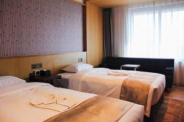 藤田観光は14日、台北市中正区で「ホテルグレイスリー台北」を開業した(NNA撮影)