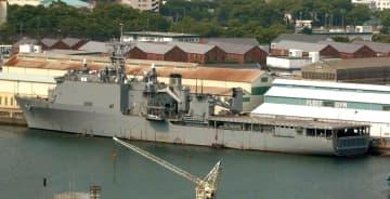 交代が決まった米ドック型揚陸艦「ジャーマンタウン」