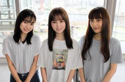 ZARDに憧れてバンドを結成した「SARD UNDERGROUND」の杉岡泉美(左から)、神野友亜、坂本ひろ美=神戸新聞社