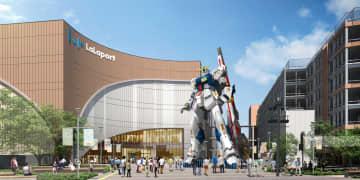 福岡市の商業施設に設置される、人気アニメ「機動戦士ガンダム」の実物大の像のイメージ((C)創通・サンライズ)