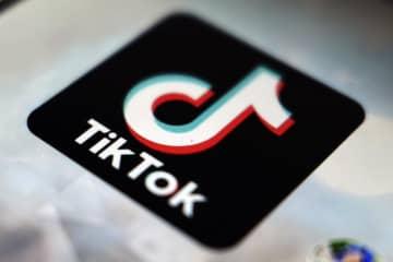 TikTok(ティックトック)のロゴ(AP=共同)