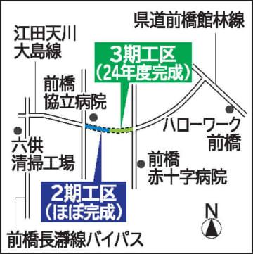 江田天川大島線「朝倉町区間」 24年度に開通見通し 前橋