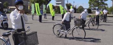 自転車事故防止へ 高校生らがヘルメットの着用呼びかける 群馬・太田市