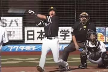 鷹・柳田の「今季で一番凄い」特大弾 バックスクリーン直撃の一打が「とんでもない」