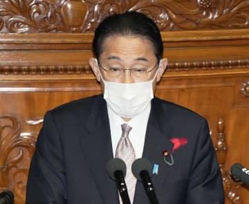 衆院本会議の代表質問で答弁する岸田文雄首相=10月11日