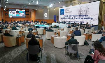 米首都ワシントンで開かれたG20財務相・中央銀行総裁会議=13日(イタリア政府提供・共同)
