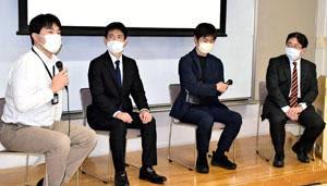 パネル討論に臨む(左から)坪倉氏、小川氏、五月女氏、挟間氏