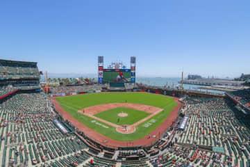 サンフランシスコ・ジャイアンツの本拠地、オラクル・パーク=2021年5月、米サンフランシスコ
