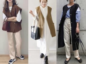 今秋トレンドに挙がっているのが、袖のないアウター「ジレ」です。コーデに取り入れるだけでシンプルな装いがおしゃれに。そんなジレを使った、この秋におすすめのコーデを4点ご紹介します。