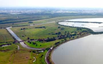 人工巣塔の設置が検討されている渡良瀬遊水地の敷地周辺