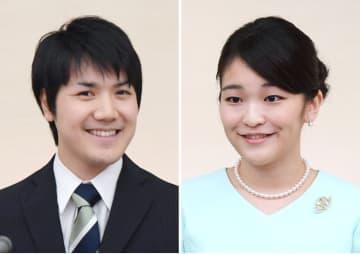 小室圭さん(左)と秋篠宮家の長女眞子さま