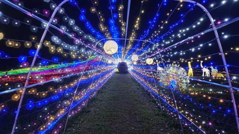 🛏|福島・岳温泉「あだたらイルミネーション」開催中!ロープウェイから天の川。「光のトンネル」も人気…