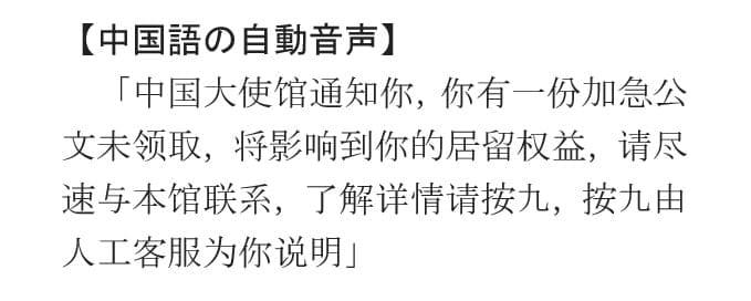電話 から 中国 通知 語 不 可能