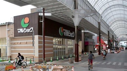 8月3日にオープンする「マルショク健軍」=24日、熊本市の健軍商店街