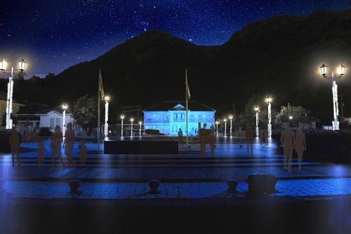 三角西港の夜間ライトアップのイメージ