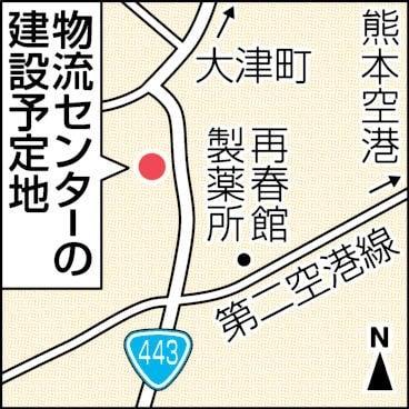 物流センター予定地の地図