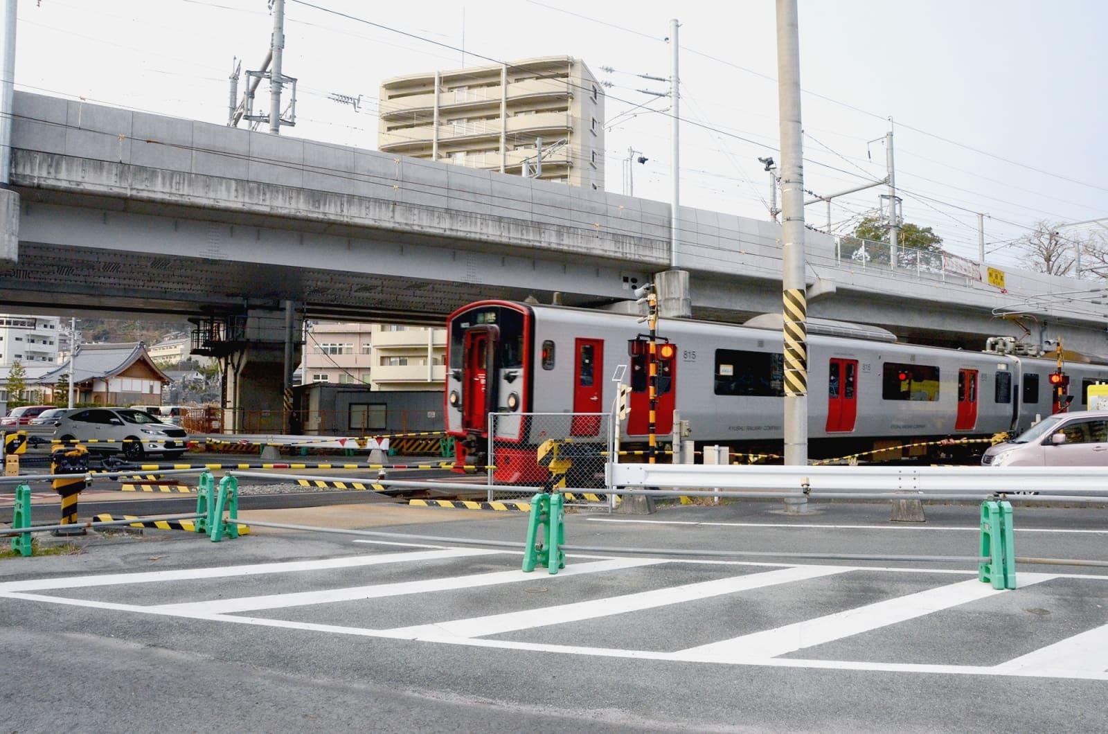 3月17日に高架化されるJR鹿児島線の下り線