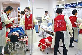 伊達赤十字病院が噴火想定し訓練...