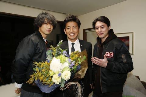 連続ドラマ「BG~身辺警護人~」に出演した(左から)斎藤工さん、木村拓哉さん、間宮祥太朗さん=テレビ朝日提供