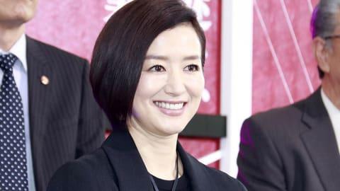 連続ドラマ「未解決の女 警視庁文書捜査官」の制作発表記者会見に登場した鈴木京香さん