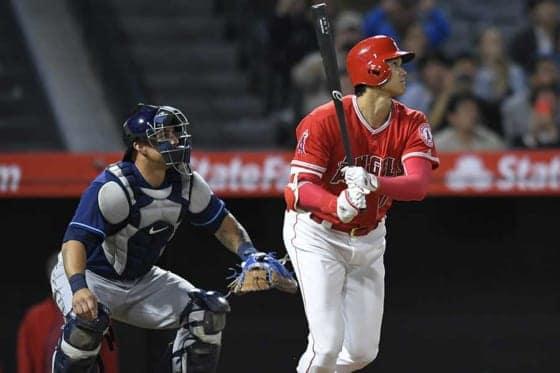 9回に第6号となる本塁打を放ったエンゼルス・大谷翔平【写真:Getty Images】