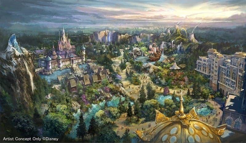 東京ディズニーシーの拡張エリアの全景イメージ画
