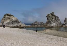 三陸を代表する景勝地の浄土ケ浜。フェリー効果による観光客増加が期待される