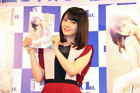 写真集「DREAM」の発売記念イベントを開催した道重さゆみさん