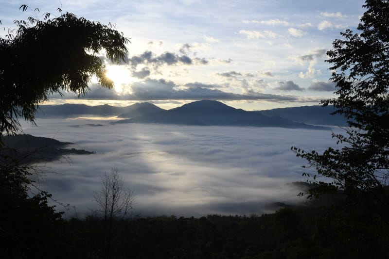 景邁山の壮大な雲海 雲南省瀾滄...