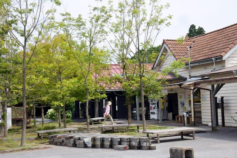 〈小湊鉄道〉養老渓谷駅前を「逆開発」 里山コンセプト「人が集う森に」