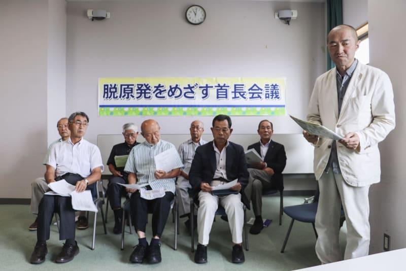 東電は処理水、長期保管を 脱原発目指す首長らが声明