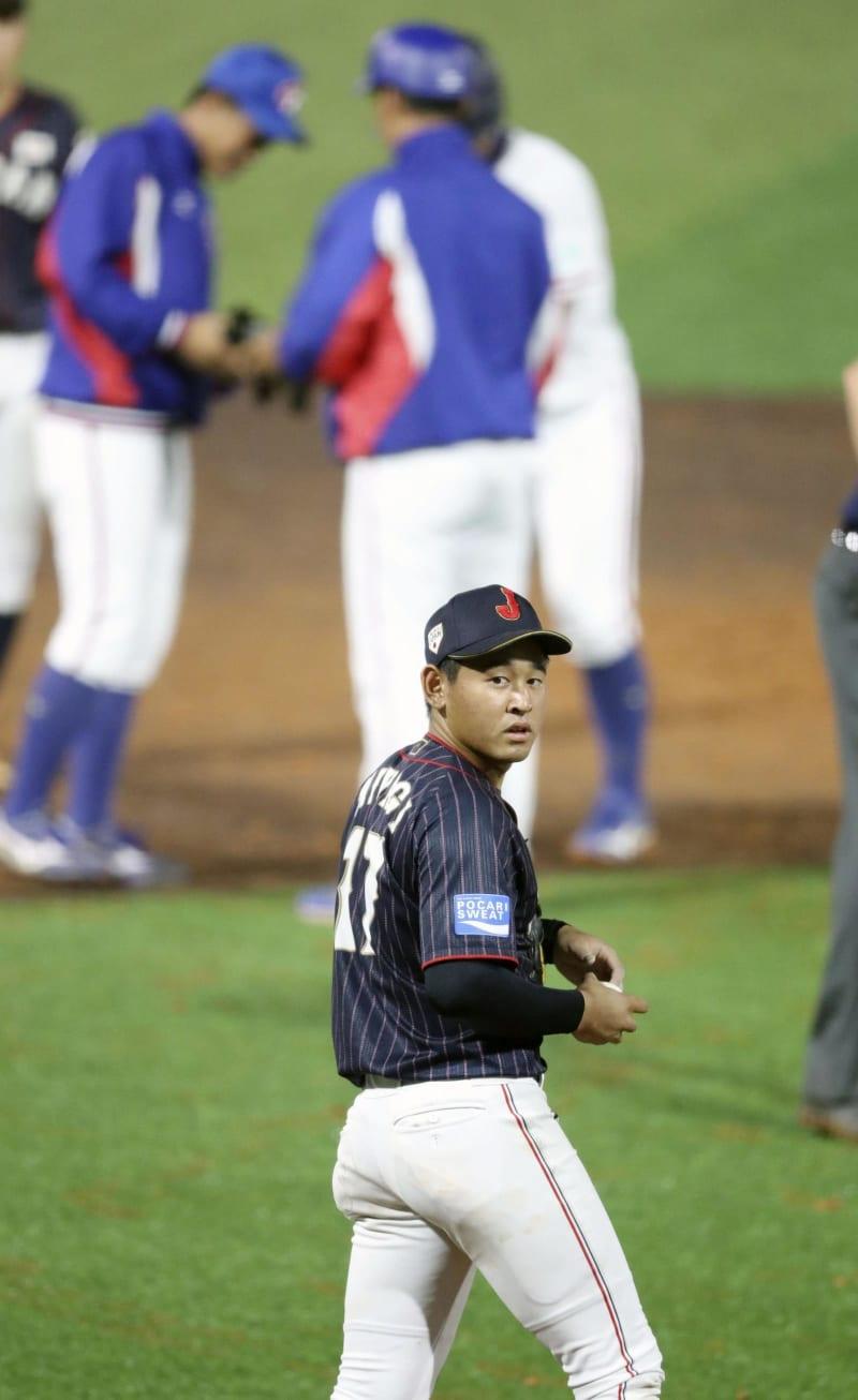 日本は初黒星、野球U18W杯 台湾に1―3、降雨コールド