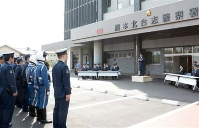 熊本北合志署であった開署式