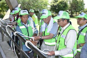 災害時に使えるロープの結び方などを学んだ県防災士ネットワークのスキルアップ研修会