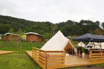 るり渓温泉内に新しくオープンしたキャンプ場GRAX(南丹市園部町大河内)