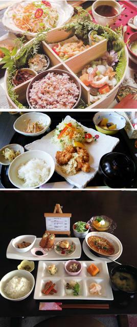 延岡市で開催中の「ヘルシーフェア」参加店の料理。参加する19店が塩分など配慮したものを提供している(いずれも延岡市提供)