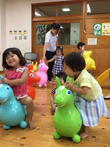 熊本市の子育て支援センターに寄贈された「ロディ」(ボランティアチーム・ゆうきゅう提供)