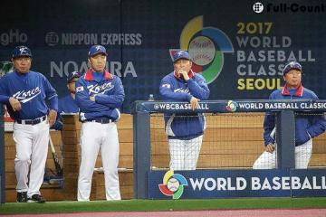 韓国代表のキム・インシク監督ら【写真:Getty Images】