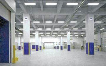 けい酸カルシウム板を使用した鋼管柱の施工例