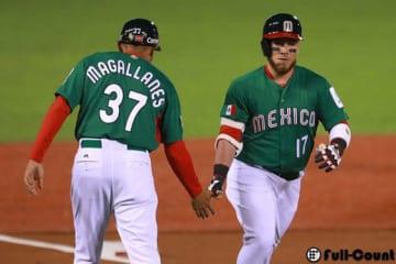 先頭打者弾を放ったメキシコ代表のキロス【写真:Getty Images】