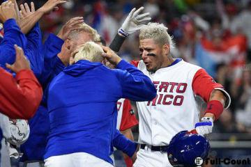 本塁打を放ったプエルトリコ代表のモリーナ【写真:Getty Images】