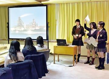 立教女学院の生徒が寺畑専務らに提案発表