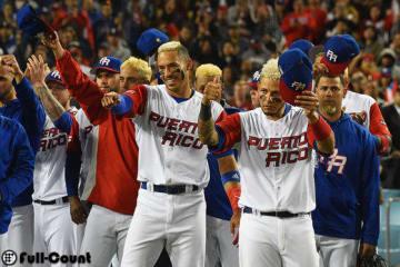 アメリカ代表を称えるプエルトリコ代表の面々【写真:Getty Images】